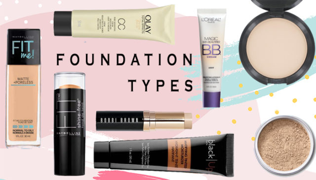 types of makeup foundation