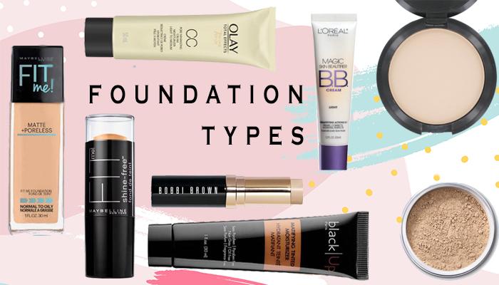 Types of Makeup Foundation : Liquid, Powder, Stick