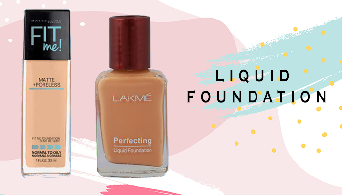 different types of liquid foundation makeup