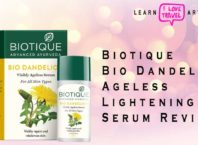 biotique bio dandelion ageless lightening serum review
