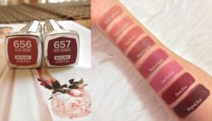 maybelline creamy matte lipstick swatches