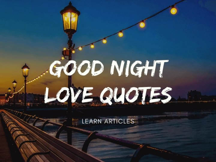 Good Night Love Quotes For Girlfriend and Boyfriend